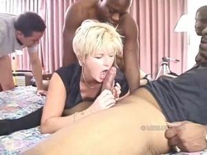 Milf Interracial Gangbang - Gangbang Porn Videos